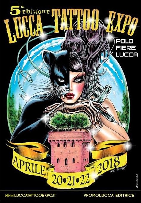 Locandina Lucca Tattoo Expo 2018